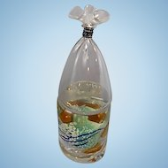 Brian Kelk Art Glass Fish In A Bag Sculpture