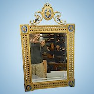 Vintage Bronze French Style Beveled Mirror W Blackamoor Cherubs