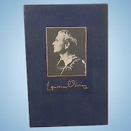 1986 Ltd Ed Sir Lawrence Olivier Signed Autographed Book On Acting