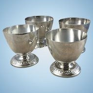 Vintage Peru Peruvian Sterling Silver Egg Cups Or Salts