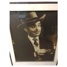 Framed Matted Autographed Signed Photo of Clark Gable GWTW
