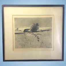 William Langston Lathrop Signed Etching