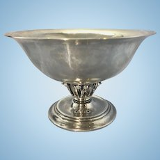 Georg Jensen Sterling Silver Louvre Bowl Compote Art Deco Period Denmark