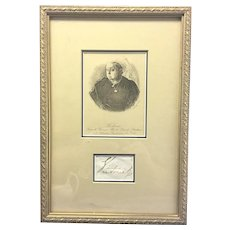 English Queen Victoria Royal Cut Signature Autograph Framed