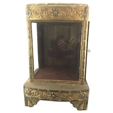 Old Footed Burmese Buddhist Wood Glass Altar Shrine Hpaya-zin Gilded Asian