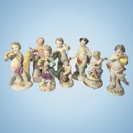 Lot of 8 Meissen Germany Porcelain Cherub Putti Sculpture Figurines All Marked