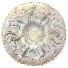 Consolidated Phoenix Art Glass Martelè Dancing Nymph Fairies Center Piece Bowl - Red Tag Sale Item