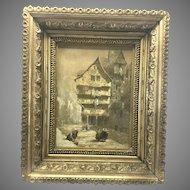 Louise J. Rayner Original Painting Gilt Wood Frame Edinburgh (1832 - 1924) Listed