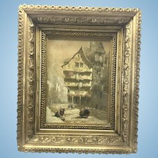 Louise J. Rayner Original Painting Gilt Wood Frame Edinburgh (1832 - 1924) Listed