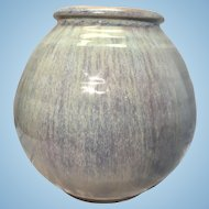 Shearwater Art Pottery Flambe Glaze Ovoid Vase Mississippi