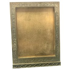 Tiffany Studios Art Nouveau Bronze Table Top Picture Frame Venetian Pattern Gold Dore