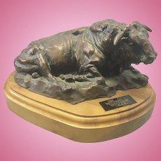 Terry Duen TD Kelsey Listed Artist Bronze Bull Sculpture 100th National Western Stock Show
