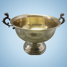 Reed & Barton Sterling Silver Bowl Cup With Griffin or Dragon Handles