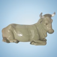 Nao By Lladro Porcelain Figurine Cow For Nativity Set Spain