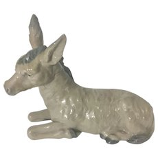 Nao By Lladro Porcelain Figurine Mule Donkey For Nativity Set Spain