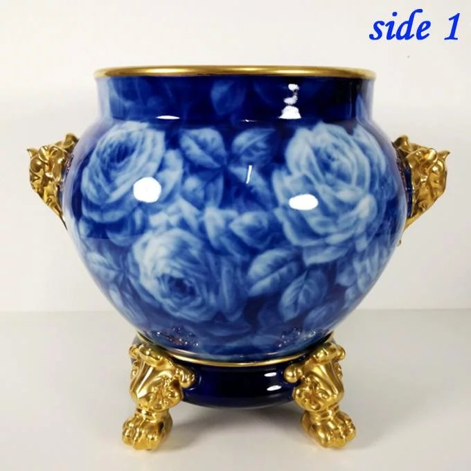 11 8 Quot Tall Large Limoges Hand Painted Jardiniere Cache Pot