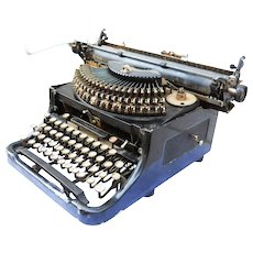 Rare Early Form 1925-26 Remington Noiseless Tabulator Black Typewriter Needs Restoration and/or Cleaning