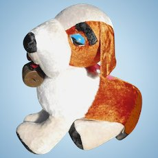 1950s Children's Saint Bernard Dog Huge Rare Carnival Fair Prize Benjie Stuffed Toy