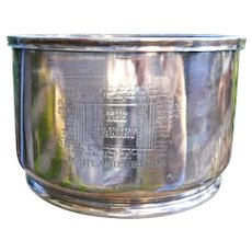Silverplate THE PANTRY Portland OREGON Restaurant Hotel Silver Ice Bucket Wine Cooler