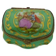 Coalport Porcelain Transfer Box ~ Edwardian