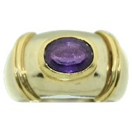 18K White & Yellow Gold Fine Amethyst Ring