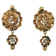 18K Victorian Rose Cut Spinel Earrings