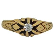 Civil War Era 14K Old European Cut Diamond Ring - Victorian