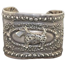 Victorian Sterling Silver Converted Napkin Ring Cuff Bracelet