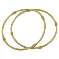 2 - 14K Yellow Gold Bangles - Bracelets