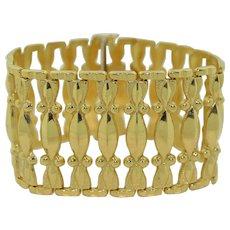 40mm Wide 14K Yellow Gold Italian Bracelet