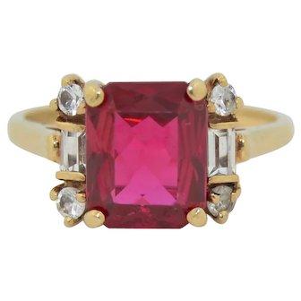 10K Ruby & Quartz Ring