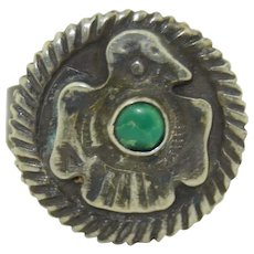 Fred Harvey Era Native American Sterling Silver & Turquoise Ring