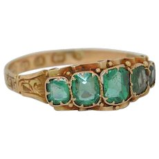 1868 Victorian 12K Emerald Doublet Ring