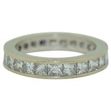 2.5 Carat Princess Cut Diamond Eternity Ring G/H Color SI1