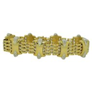 KRIA Gioielli Diamond 18K Yellow & White Gold Bracelet 8 Inches
