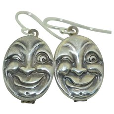 Webster & Co. Sterling Silver Man in the Moon Sterling Silver Earrings