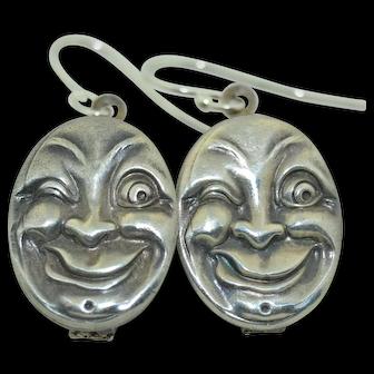 Webster & Co. Sterling Silver Man in the Moon Sterling Silver Earrings