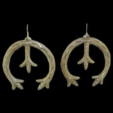 Large Sterling Silver Native American Earrings