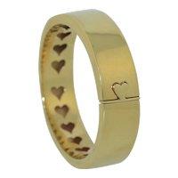 Italian 14K Love Heart Bangle Bracelet