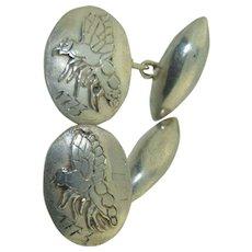 Antique Sterling Silver Hornet / Bee Cufflinks dated 1773