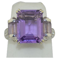 Mauboussin Paris 18K Gold Diamond Amethyst Ring