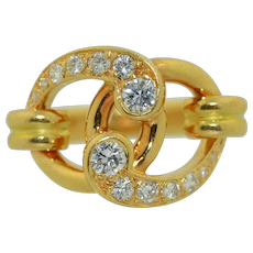 Chaumet 18K Gold with Brilliant Cut Diamond Ring