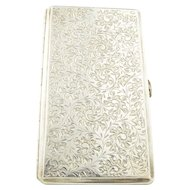 Antique 950 Silver Long Cigarette Case