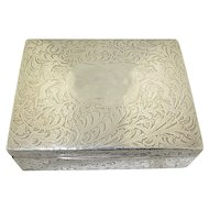 Sterling Silver Black Star & Frost Jewelry Box