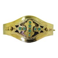 Victorian 12K Emerald Bracelet