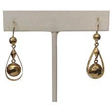 Victorian 14k Dangle Drop Earrings