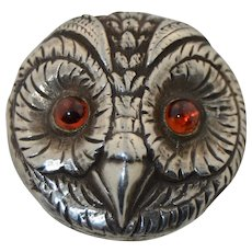 Vincent Simone Sterling Silver Owl Pin Brooch