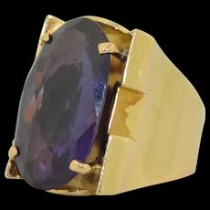 18K Retro Chunky 12CT Alexandrite Ring