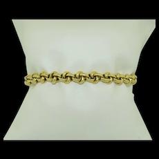 14K Eternity Knot Bracelet 10.5 grams