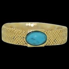 Vintage 14K & Turquoise Ring